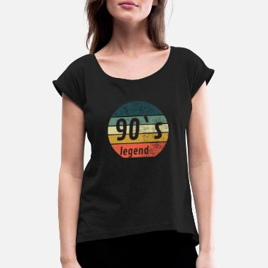 90s 90`s Vintage Sytle - legendary - Women's Rolled Sleeve T-Shirt