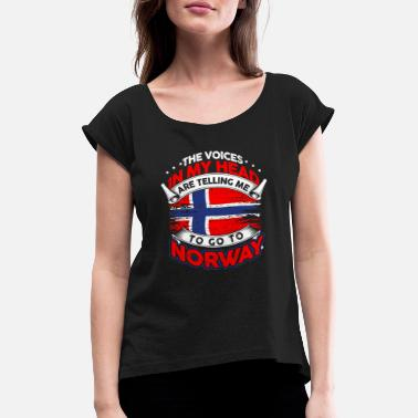 Norway Oslo Scandinavia north gift - Women's Rolled Sleeve T-Shirt