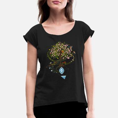 Bloom A surrealistic Spring - Women's Rolled Sleeve T-Shirt