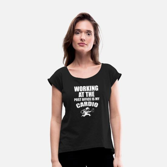 Post T-Shirts - post man - Women's Rolled Sleeve T-Shirt black