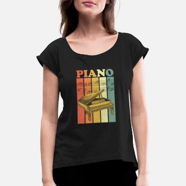 Piano piano - Women's Rolled Sleeve T-Shirt