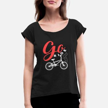 Hobby Bicycle gift hobby sport women's bike - Women's Rolled Sleeve T-Shirt