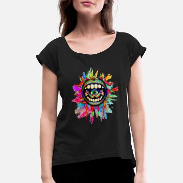 Illusion psychodelic vision - Women's Rolled Sleeve T-Shirt