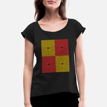 Flag Balearic Islands Spanish Spain Gift Spaniard Tapas Paella - Women's T-Shirt with rolled up sleeves