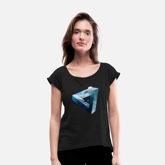 Polaroid T-Shirts - Polar triangle - Women's Rolled Sleeve T-Shirt black