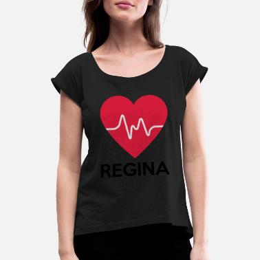 Regina heart Regina - Women's Rolled Sleeve T-Shirt