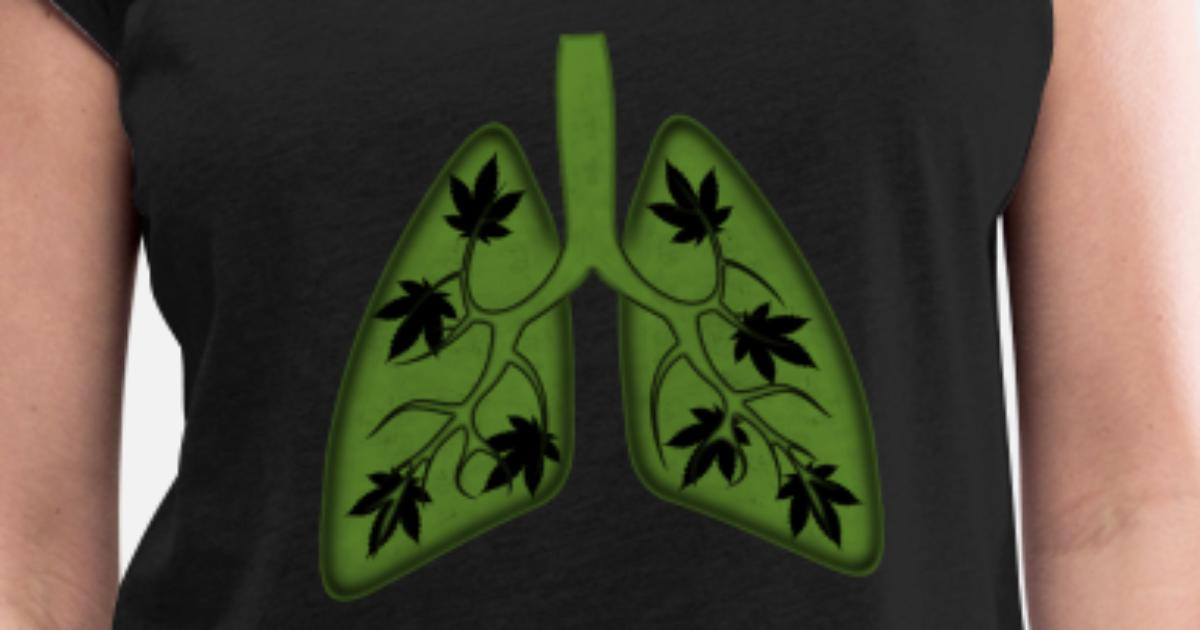 Cannabis Lung Weed THC Hemp Marijuana T skjorte med