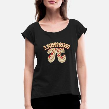 Pi Day Pi pate - Women's Rolled Sleeve T-Shirt