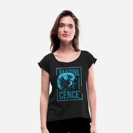 Gift Idea T-Shirts - sea - Women's Rolled Sleeve T-Shirt black