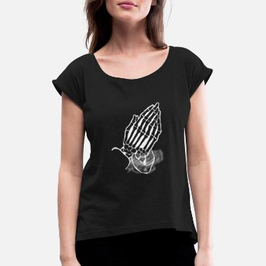 Praying Hands Praying Hands - Praying Hands - Women's Rolled Sleeve T-Shirt
