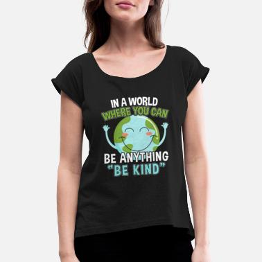 Movement World Peace Peace Peace Movement Gift - Vrouwen T-shirt met opgerolde mouwen