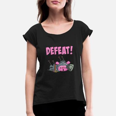 Defeat Defeat / defeat - Women's Rolled Sleeve T-Shirt