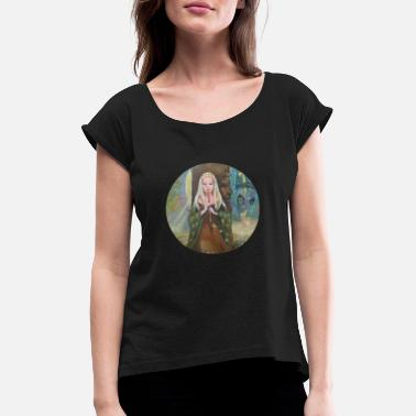 Magic Flute magic woman with a flute - Women's Rolled Sleeve T-Shirt