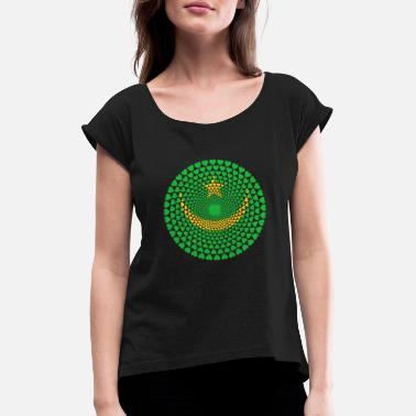 Mauritania Mauritania Mauritania موريتانيا Love Mandala - Women's T-Shirt with rolled up sleeves
