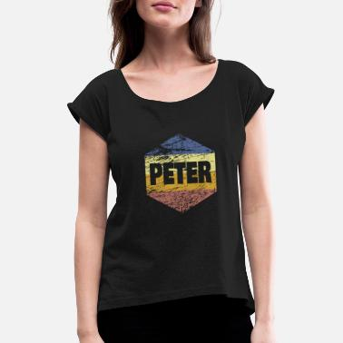 80ies Style Peter Vintage 80ies - Women's Rolled Sleeve T-Shirt