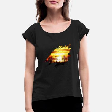 Sunset Sunset sunset - Women's Rolled Sleeve T-Shirt