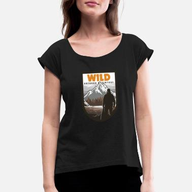 Outdoor Wilderness Outdoor Adventure - T-shirt à manches retroussées Femme