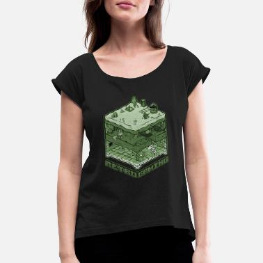 Retro Game Characters Retro Gaming - Women's T-Shirt with rolled up sleeves