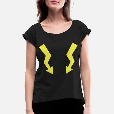 Shock Flashes - Lightning - Women's Rolled Sleeve T-Shirt