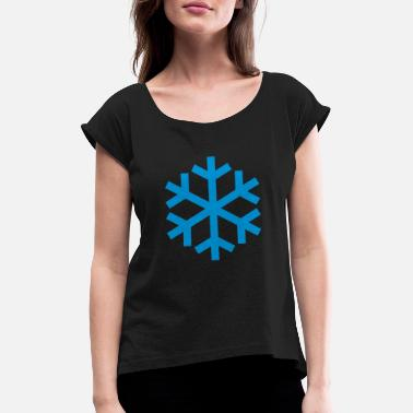 Icon Snowflake Weather Icon Icon - T-shirt med rulleærmer dame