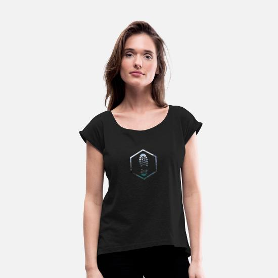 Outdoor T-Shirts - outdoor - Women's Rolled Sleeve T-Shirt black