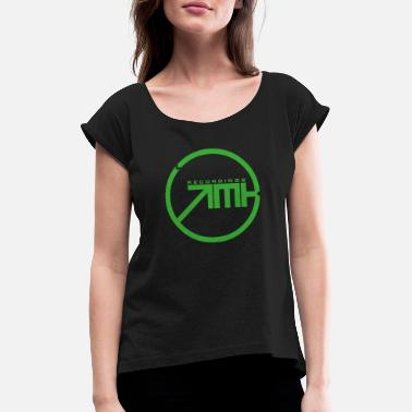 Tech Record EMKE RECORDINGS - Women's T-Shirt with rolled up sleeves