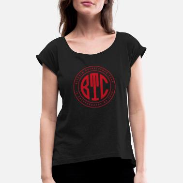 Monogram Bitcoin Monogram - Women's T-Shirt with rolled up sleeves