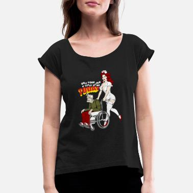 Playboy Nurse And The Playboy Old Man - Women's Rolled Sleeve T-Shirt