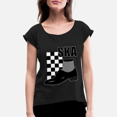 Rudeboy Ska Music - Ska Reggae for Rudeboy - Women's Rolled Sleeve T-Shirt