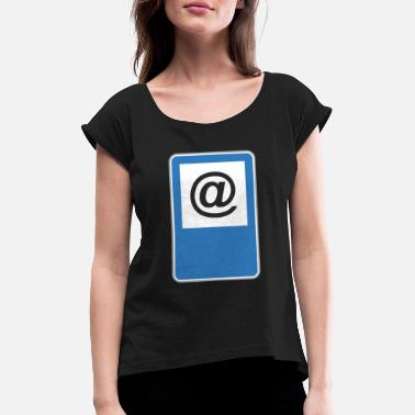 Road Sign Road sign at - Women's Rolled Sleeve T-Shirt