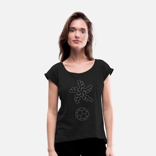 Series T-Shirts - Series 03 | Dodecahedron - Women's Rolled Sleeve T-Shirt black