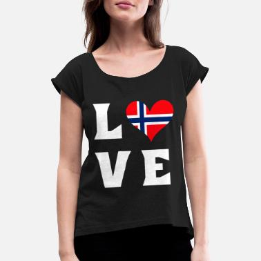 Norway Norway - Women's Rolled Sleeve T-Shirt
