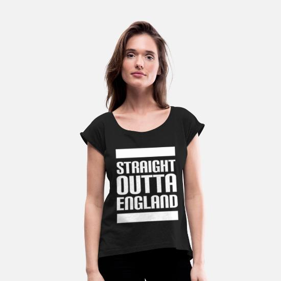 England T-Shirts - England - Women's Rolled Sleeve T-Shirt black