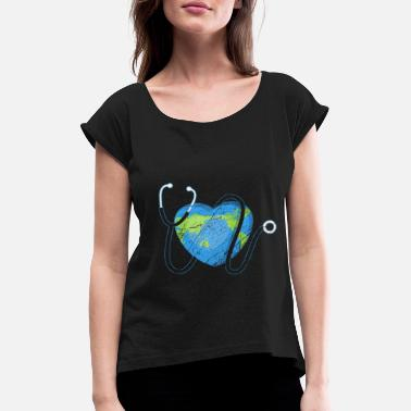 Earth Day Earth Day - Earth Day - Vrouwen T-shirt met opgerolde mouwen