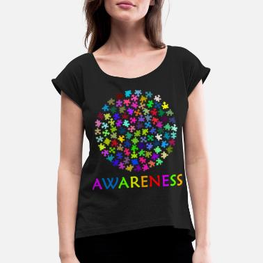 Autism Awareness Autism Awareness - Women's Rolled Sleeve T-Shirt