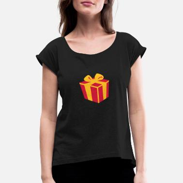 Present Present gift - Women's Rolled Sleeve T-Shirt