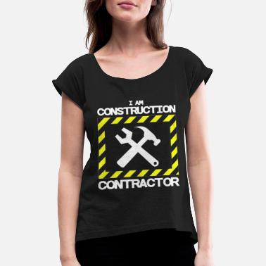 Road Construction road construction - Women's Rolled Sleeve T-Shirt