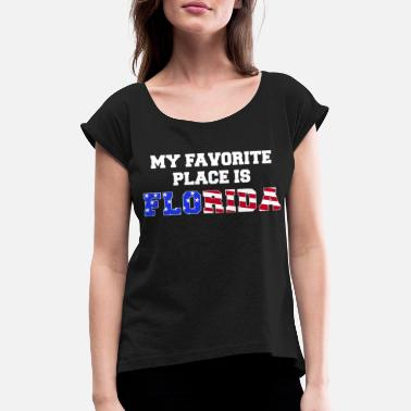 Love Florida USA Florida love love - Women's T-Shirt with rolled up sleeves