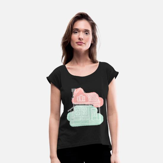 Love T-Shirts - House - Women's Rolled Sleeve T-Shirt black