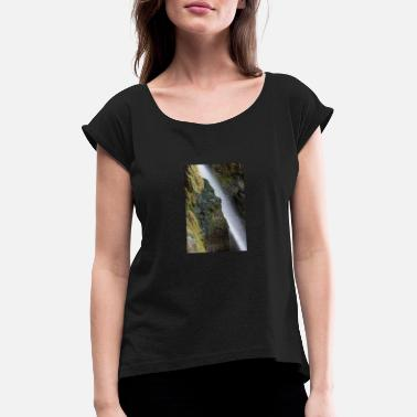 Ray Of Light Mystical waterfall like a ray of light - Women's Rolled Sleeve T-Shirt