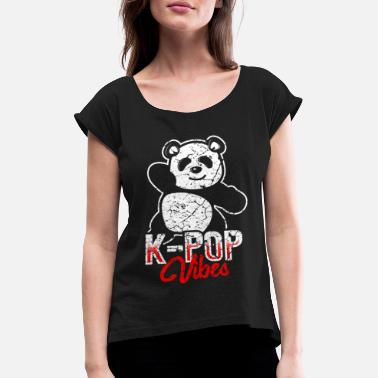 Korea Pop Music K-pop music Korea pop music - Women's Rolled Sleeve T-Shirt
