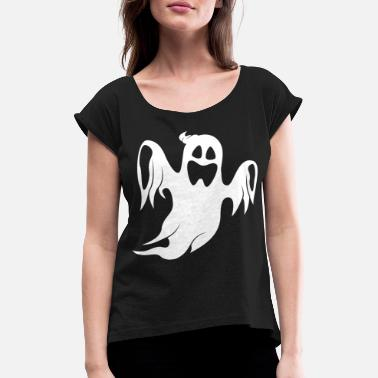 Trick Halloween ghost trick or treat - Women's Rolled Sleeve T-Shirt