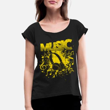 House music - Women's Rolled Sleeve T-Shirt