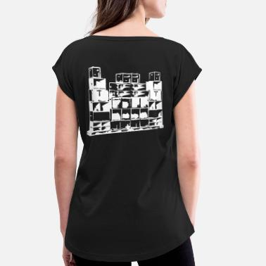 Spiral Tribe Soundsystem 23 - Women's T-Shirt with rolled up sleeves