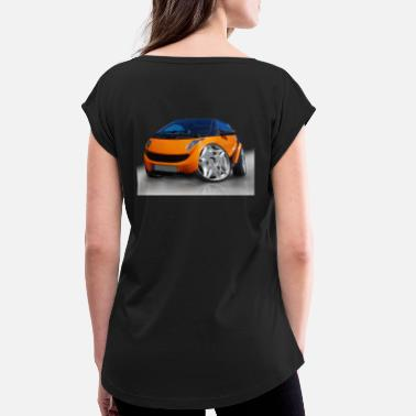 Smart Smart, For two, Auto, Tuning, lustig - Frauen T-Shirt mit gerollten Ärmeln