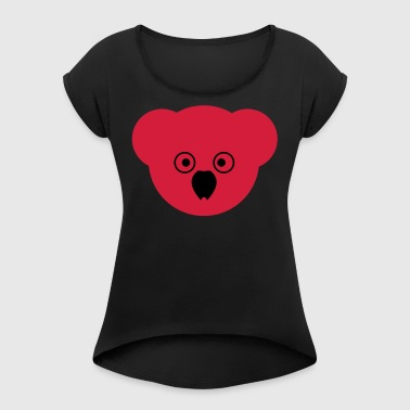 KOALA red - Women's T-shirt with rolled up sleeves