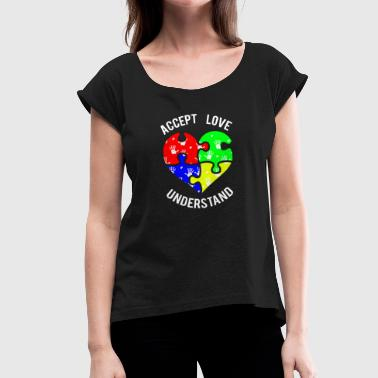 autism - Women's T-shirt with rolled up sleeves