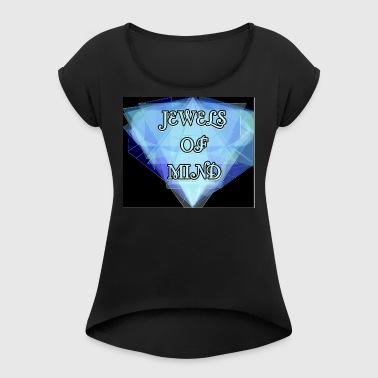JEWELS OF MIND - Women's T-shirt with rolled up sleeves