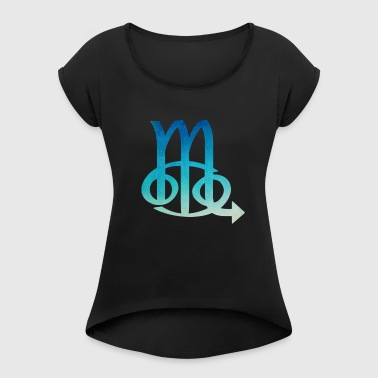 Cancer Scorpio Zodiac Sign - Women's T-shirt with rolled up sleeves