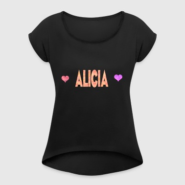 Alicia - Women's T-shirt with rolled up sleeves
